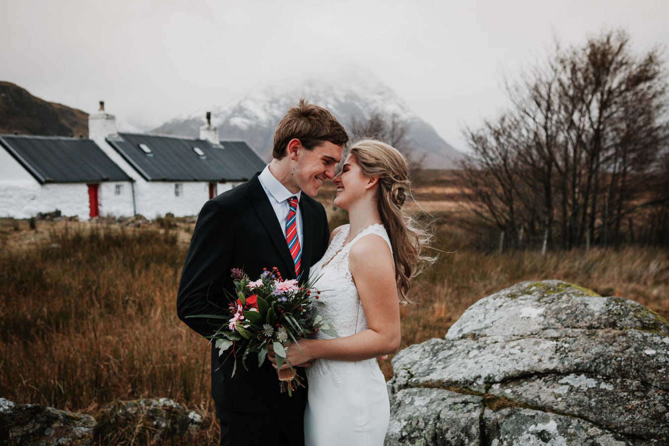 Married Couple in Glencoe Mountain Range